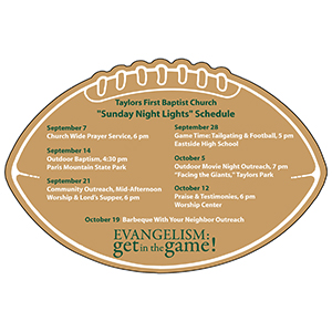 Item:  MG19424 -Football Schedule Skeds
