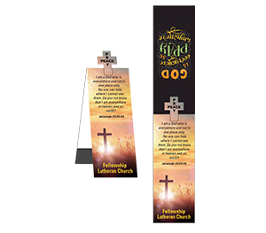 Item:  MG22072 -Cross Shape Magnetic Bookmark