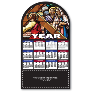 Item:  MG19175 -Stained Glass Magnetic Calendar